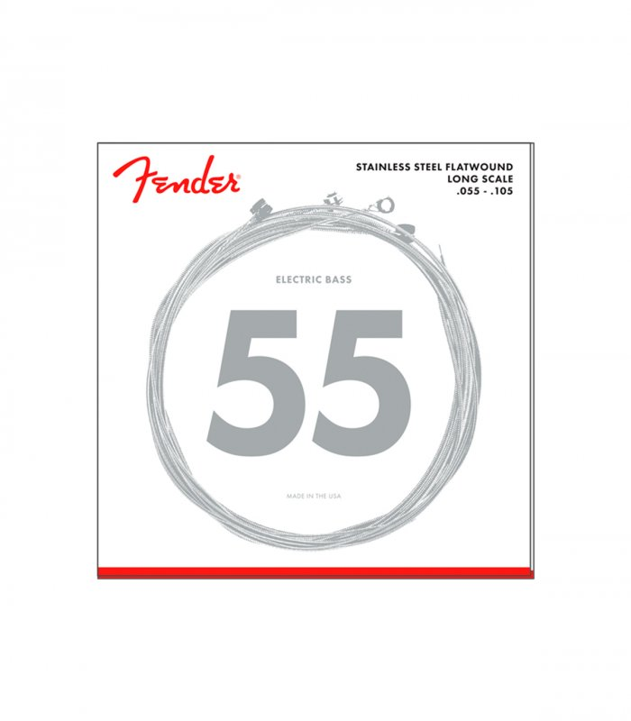 Fender Stainless Flatwound 9050M 55-105