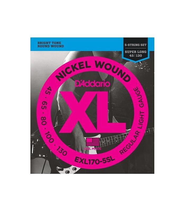 D'Addario Nickel Wound EXL170-5SL