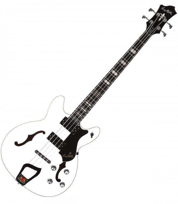 Hagstrom Viking Bass WHT