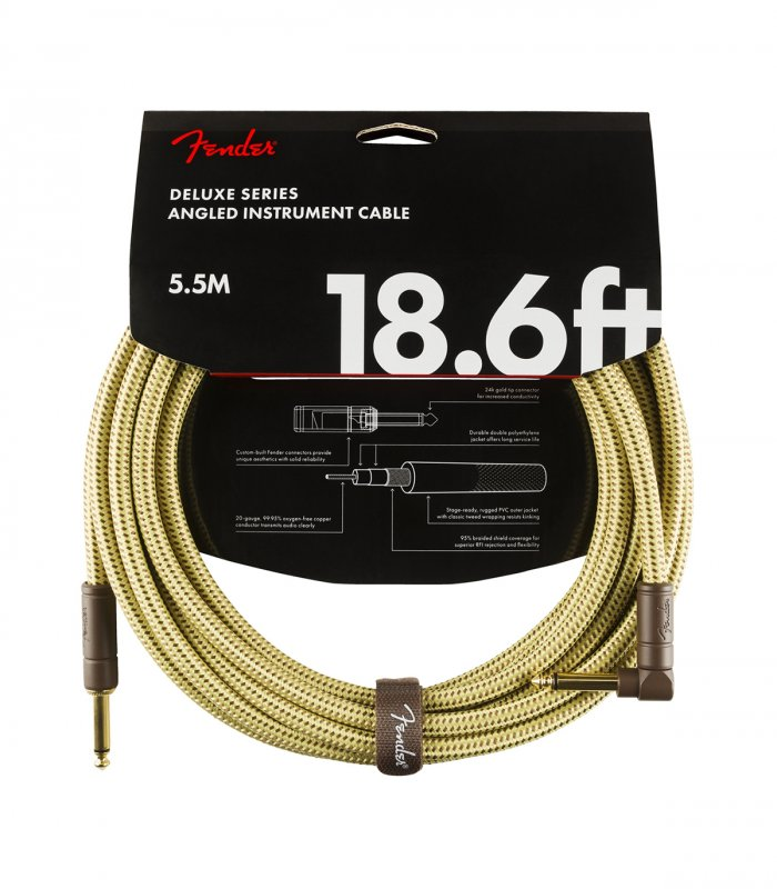 Fender Deluxe Serie Cable 18ft Tweed