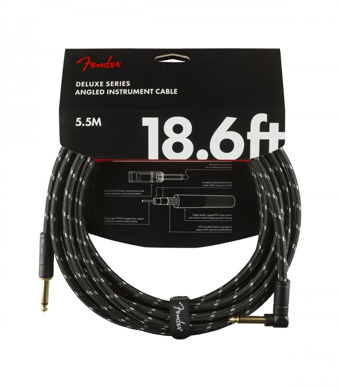Fender Deluxe Serie Cable 18ft Black